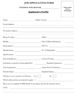 Job application forms 4