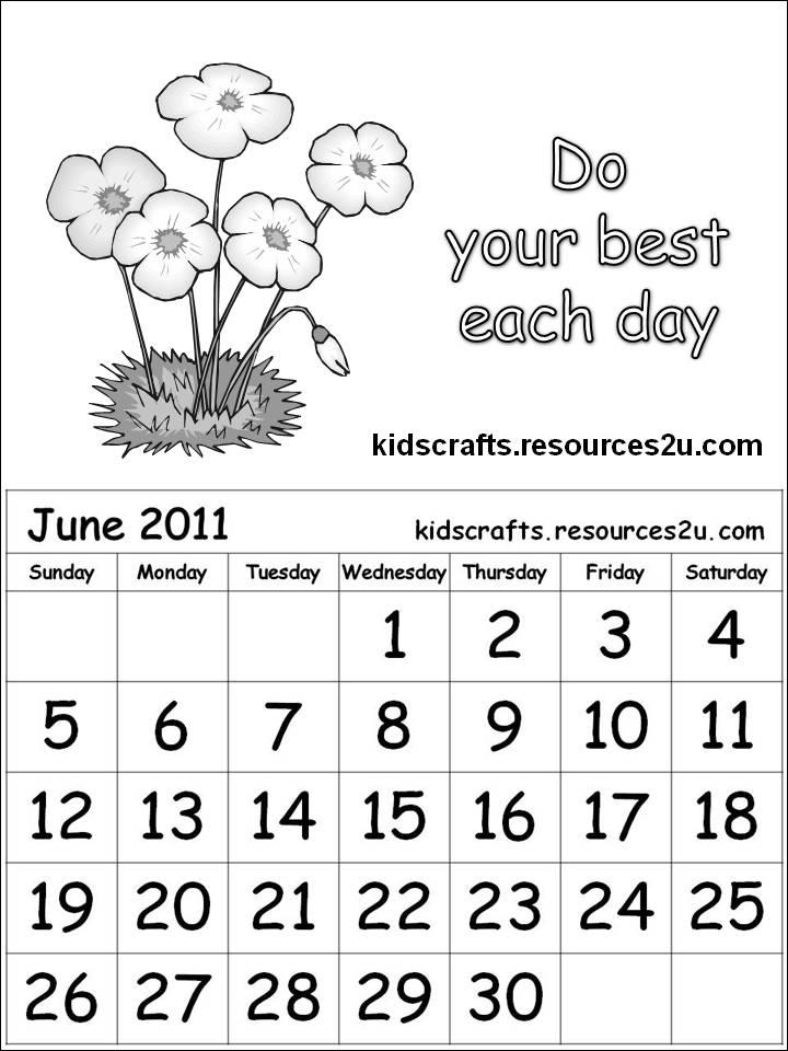 june 2011 calendar page. Free Calendar 2011 June for