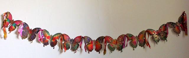 papierowe motyle tutorial