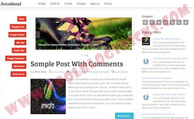 Sensational - Best Blogger Template