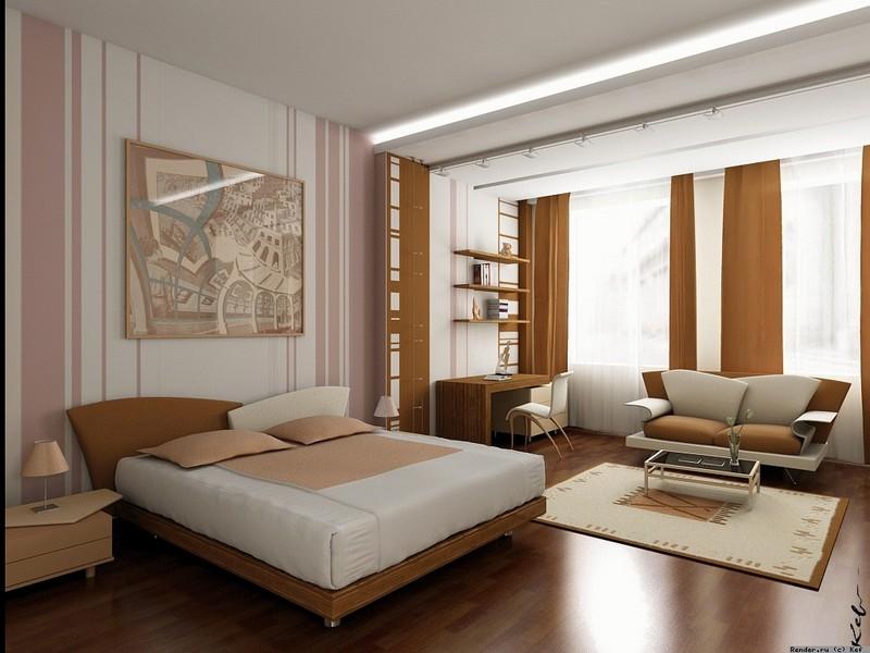Дизайн комнаты спальни 18 кв.м