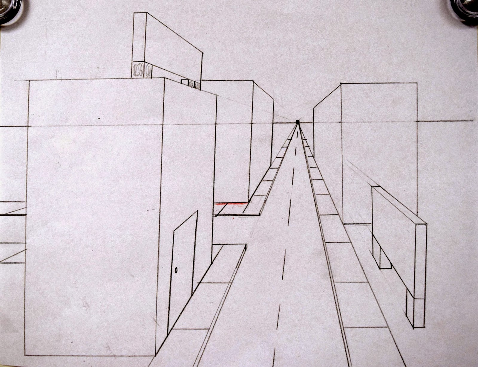 One Line Art Animation : One point perspective streetscapes 2.0 5th art with mrs. nguyen