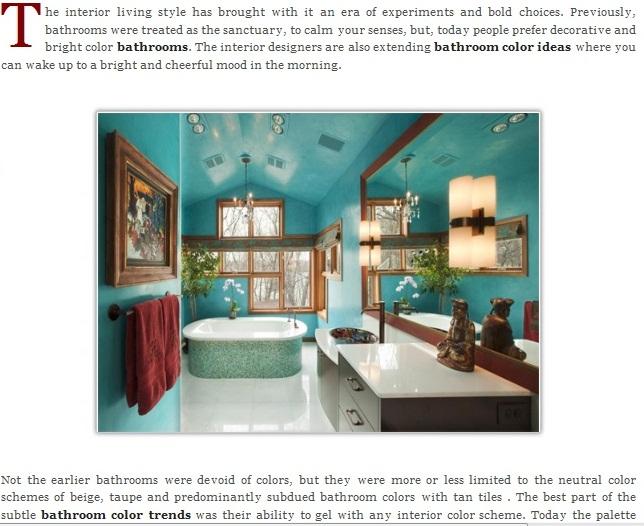 Bathroom color ideas- home color trends 2012