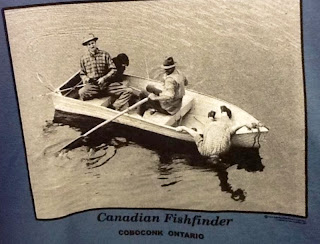 image humour T-shirt Canadian Fish finder