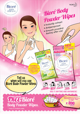 Biore Malaysia: FREE Body Powder Wipes