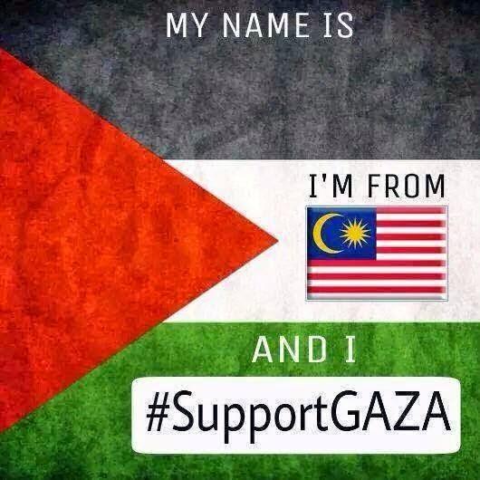 Mari Sebarkan Template SUPPORT GAZA