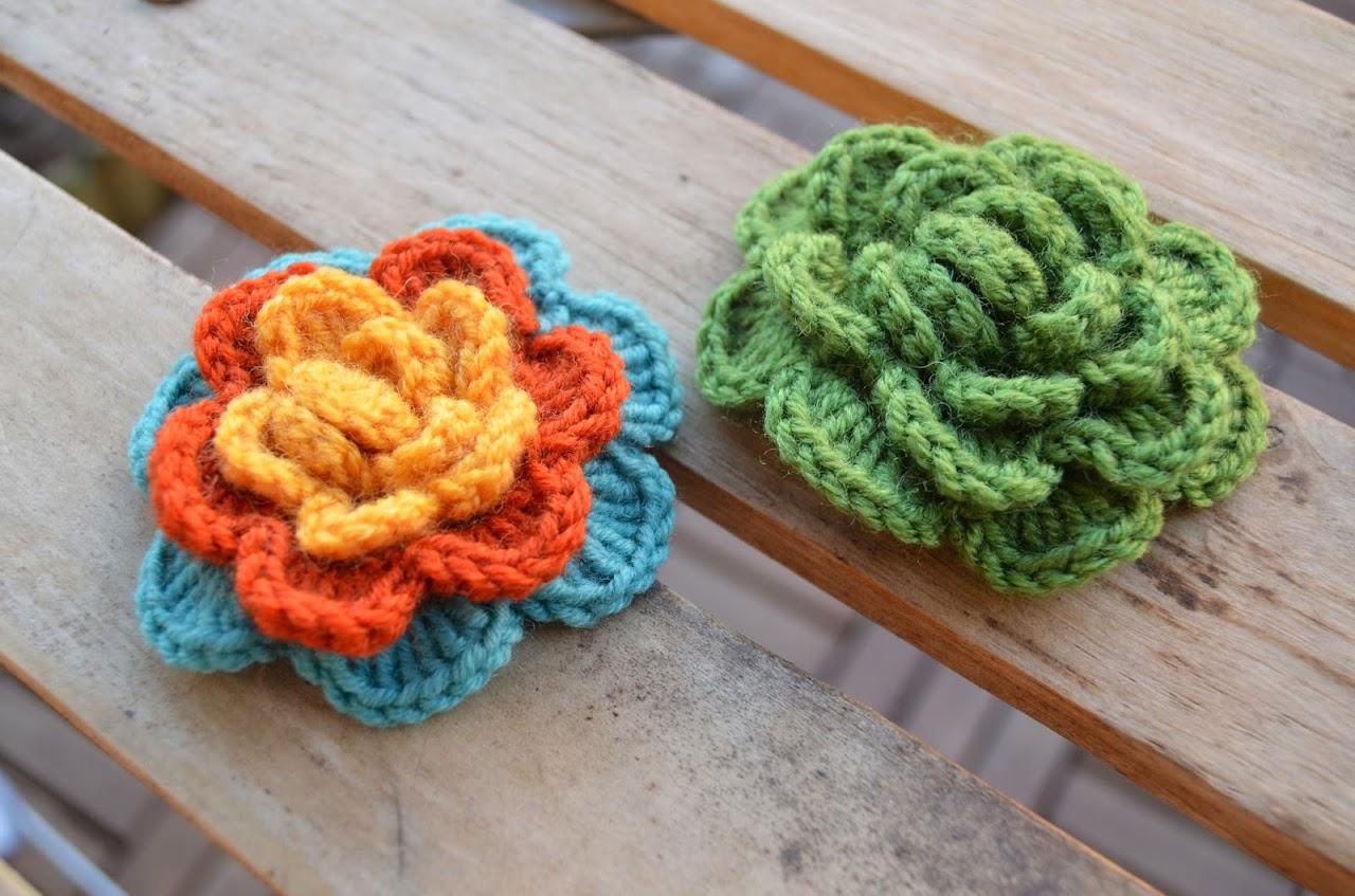 Crochet A Flower Brooch Pattern : Summer flower brooch (free pattern) LillaBj?rns Crochet ...