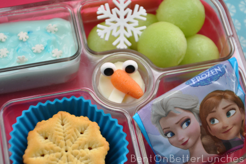 Disneys Frozen  Olaf the snowman made of cheese bento lunch