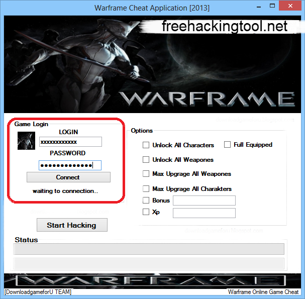 Warframe Hack Tool April 2013 [Undetected]