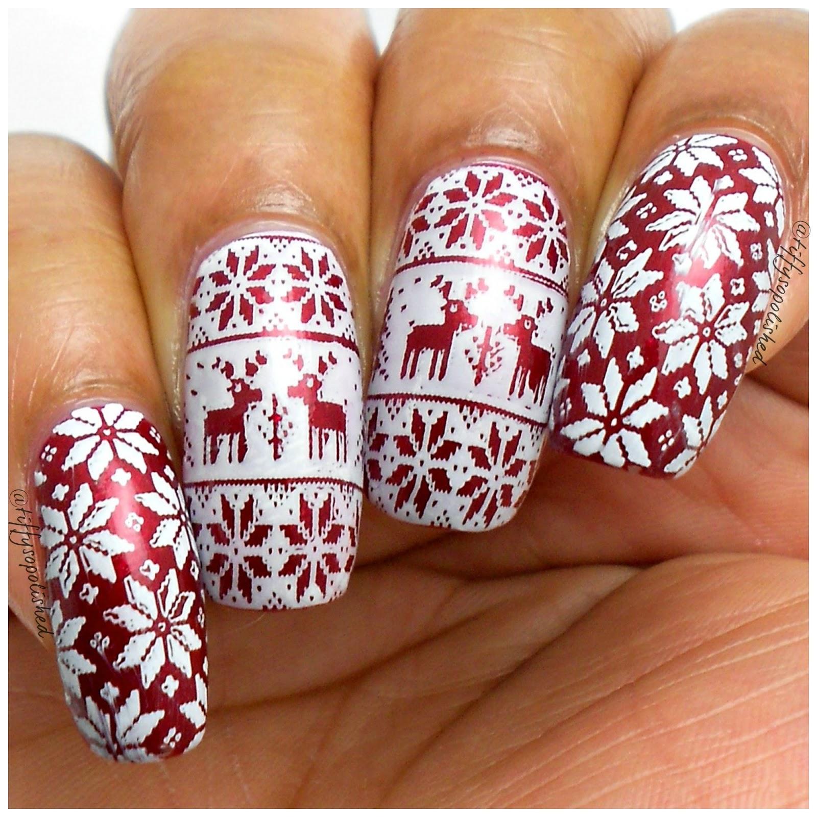 Christmas Sweater Nails Wnac2015 Naturallytiffy