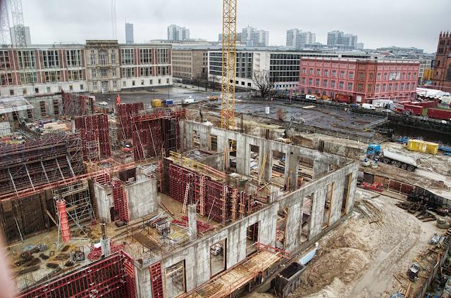 Baustelle Berliner Schloss, Stadtschloss, Schlossplatz, 10178 Berlin, 10.12.2013