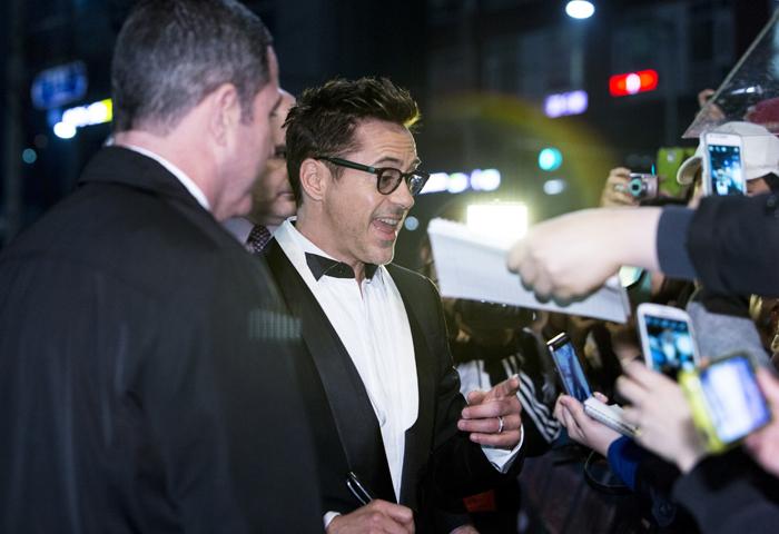 Robert Downey Jr. promocionando Iron Man 3