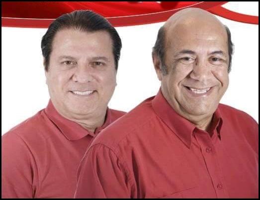 Vice - prefeito e Prefeito Reginaldo Morais