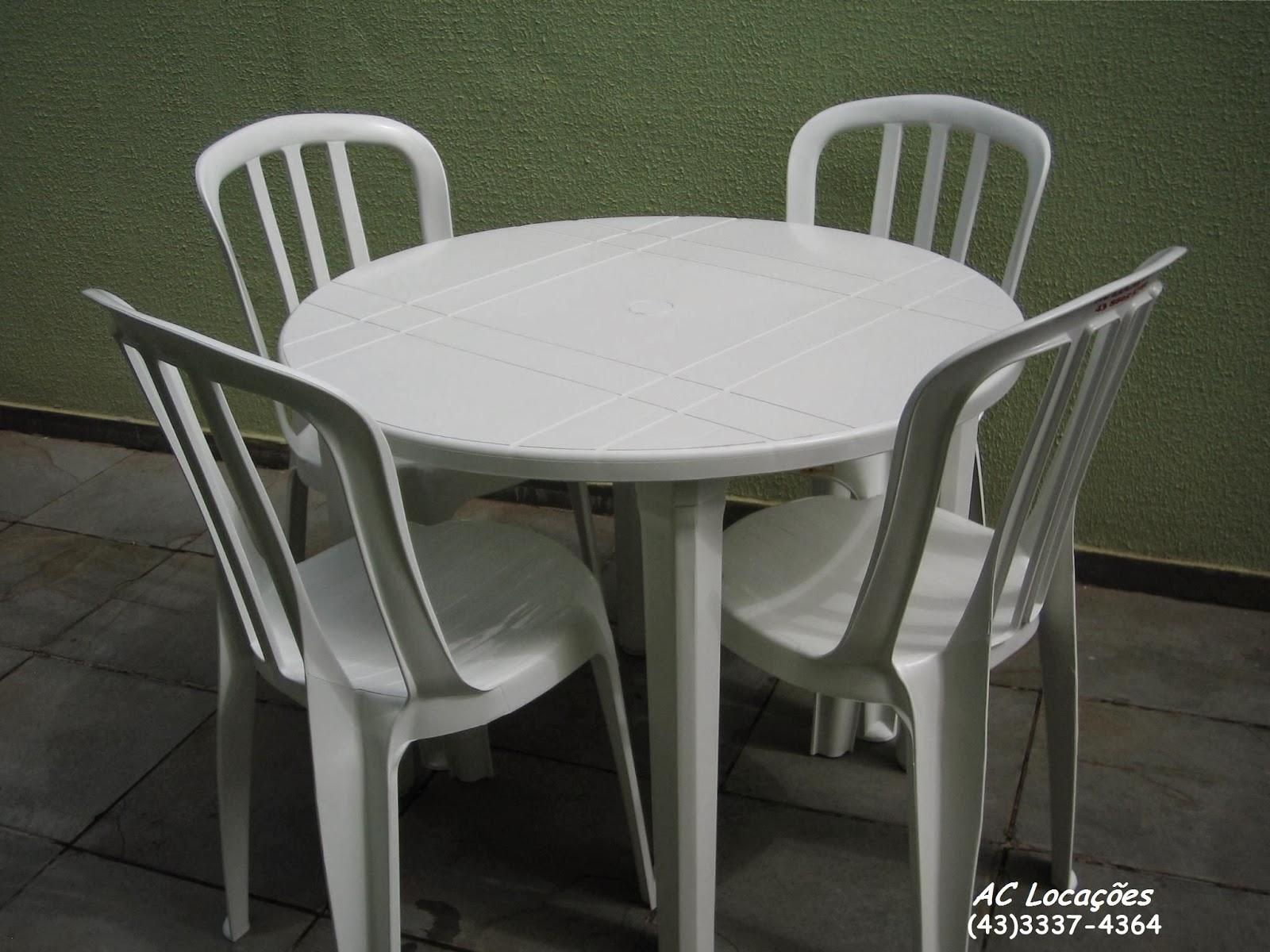 Ac loca es de mesas e cadeiras for Mesas de plastico para jardin