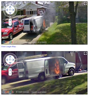 auto incendiandose