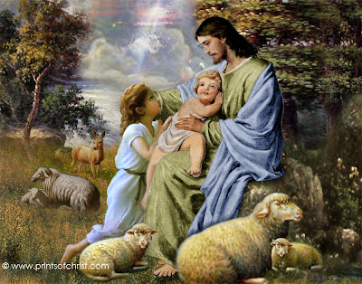 Jesus With Children Painting
