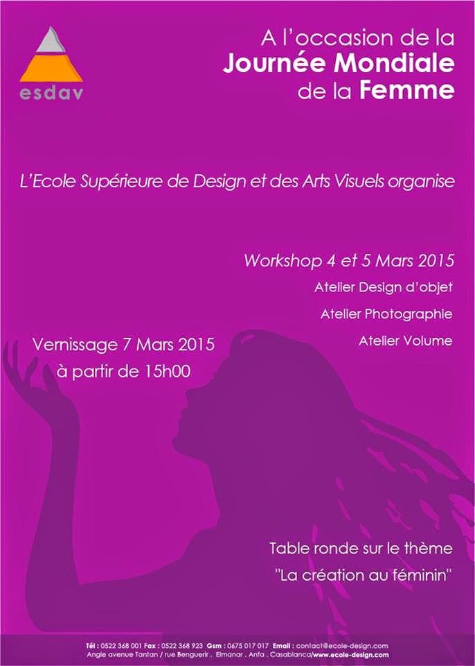 A l'occasion de la Journée Mondiale de la Femme - Workshop à  l'Ecole Supérieure de Design et des Arts Visuels