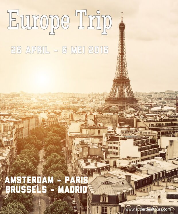 Tour Eropa 26 April - 6 Mei 2016