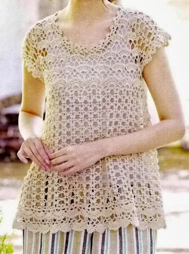 Summer Crochet Patterns : ... Sweater: Crochet Tunic Pattern - Wonams Tunic For Spring And Summer