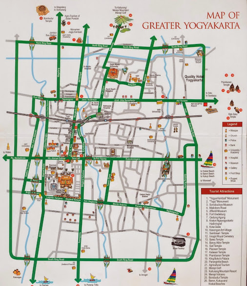 Map of Yogyakarta - driver yogyakarta