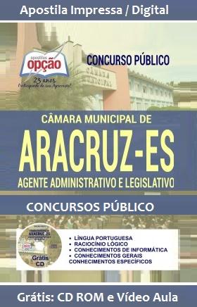 Apostila Câmara de Aracruz/ES Agente Administrativo e Legislativo