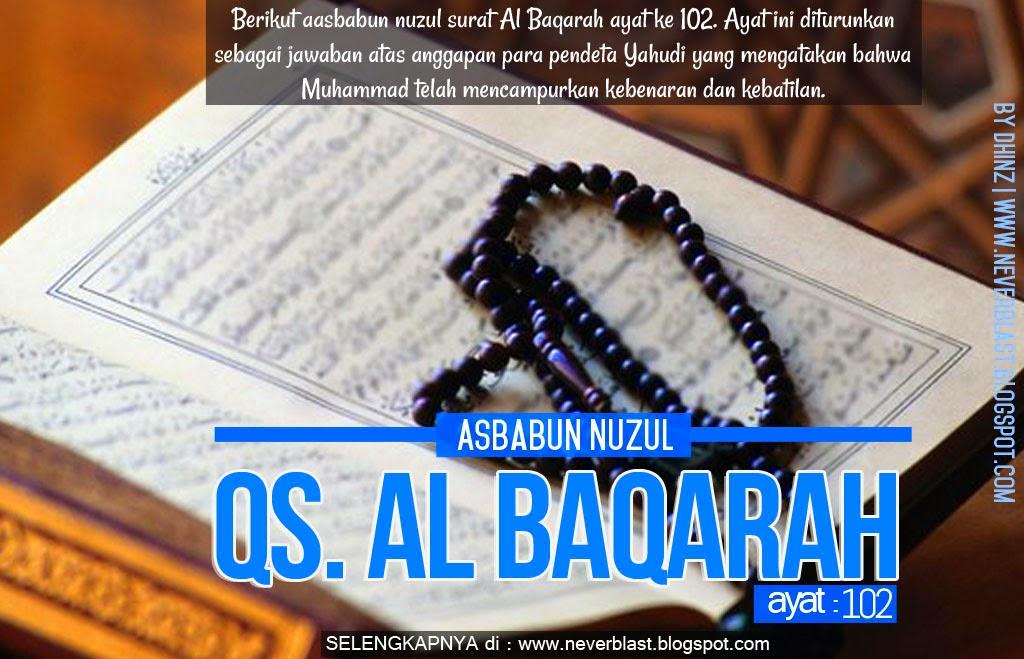Asbabun Nuzul Qs. Al Baqarah ayat 102
