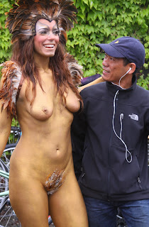 Full Nude Body Painting Topless Pussy Exposed