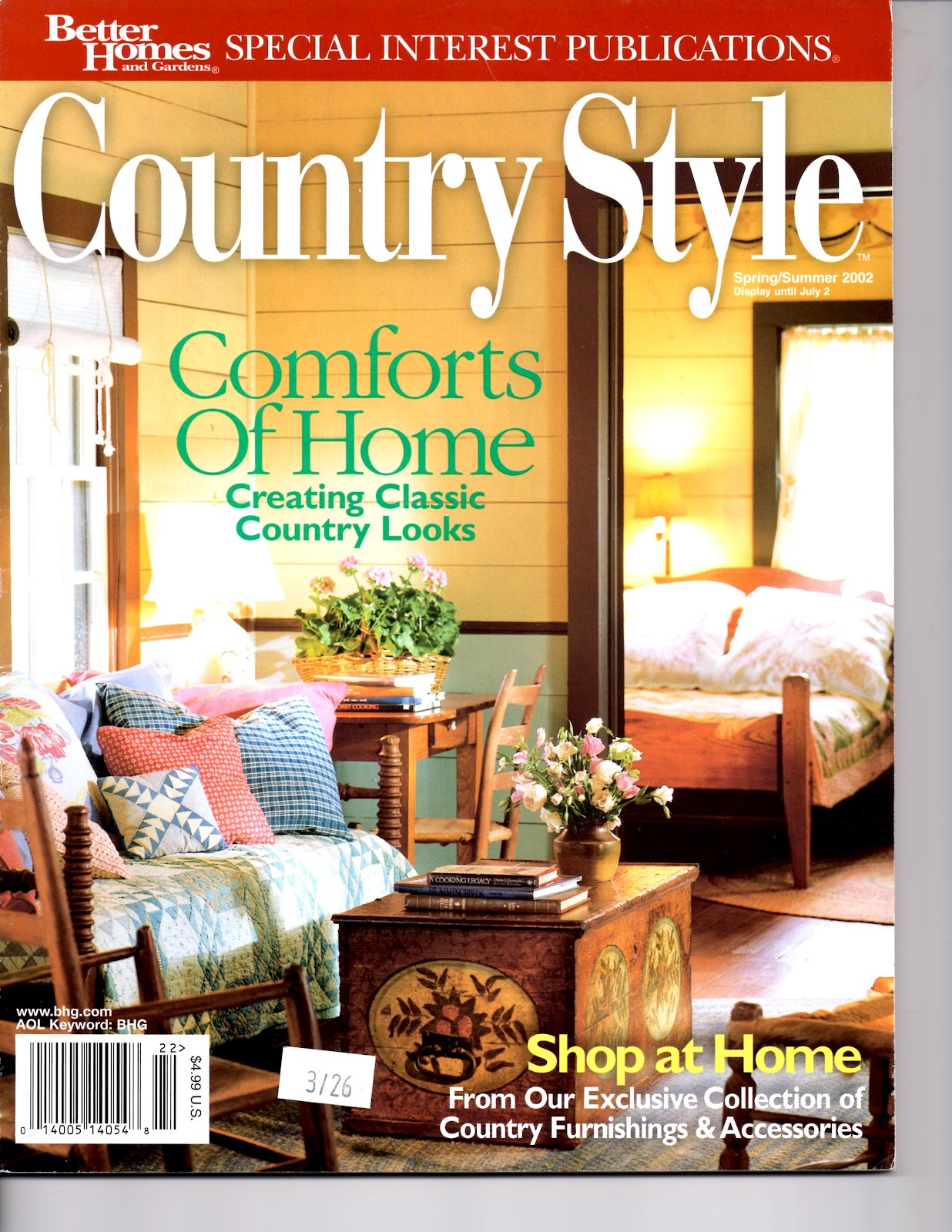 better homes and gardens would issue a decorating with antiques