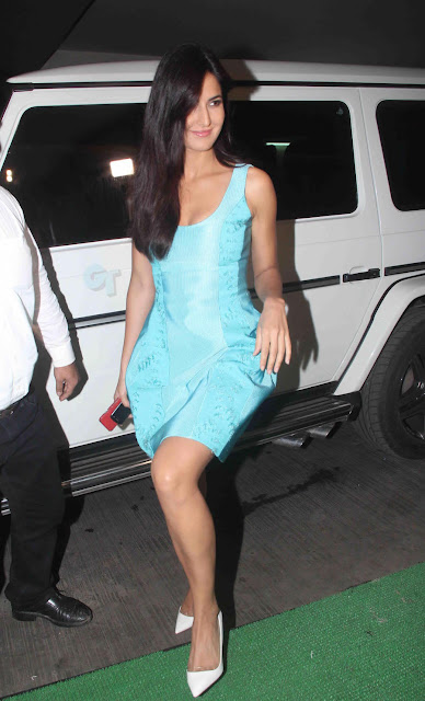 Sexy Katrina Kaif Looks Super Hot In a Blue Short Dress