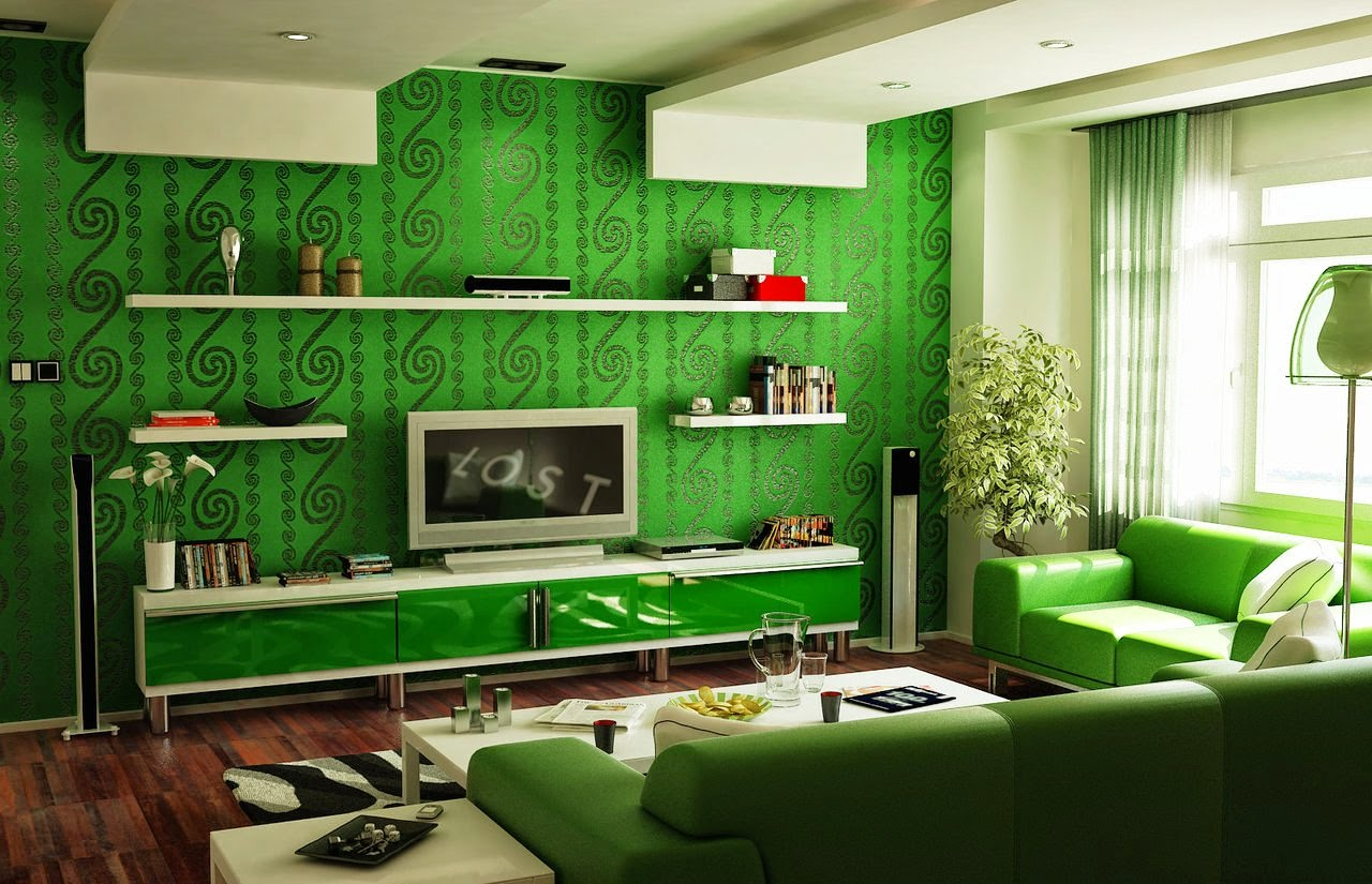 Famous Home Designers Brilliant With Green Living Room Ideas Images