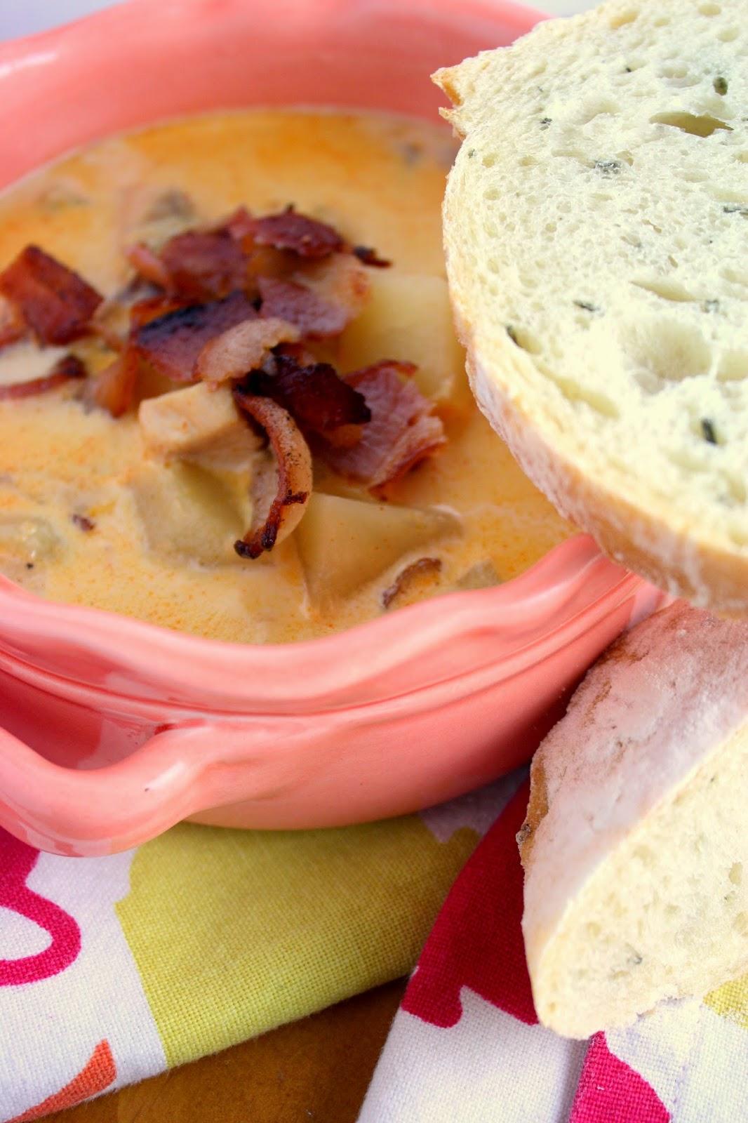 chipotle chicken chowder. (via em + the city.)