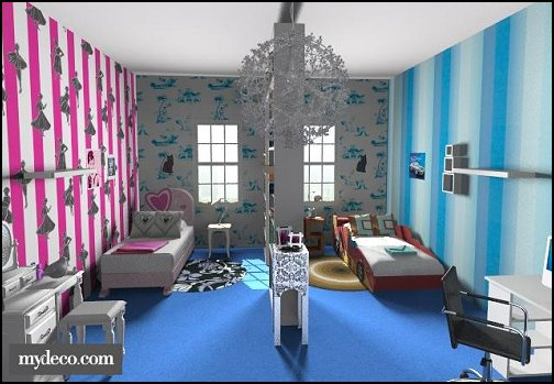 Decorating theme bedrooms maries manor shared bedrooms for Boy and girl bedroom designs