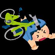自転車で転倒した子供のイラスト