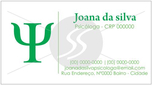 cartao de visitas psicologo simples 02 - Cartões de Visita para Psicólogos