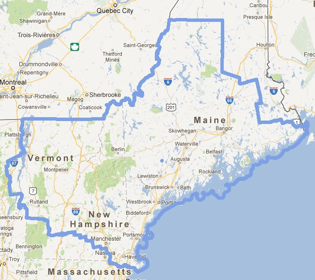3 States With A Bit Of Both Massachusetts And New York And A Tiny Bit Of New Brunswick Canada