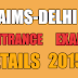 AIMS DELHI ENTRANCE EXAM DETAILS 2015