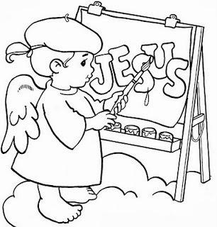 risco de anjinho para pintar