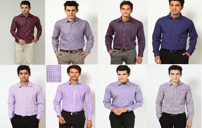 Men Purple Color Formal Shirts