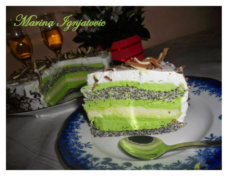 Recept: After eight sa makom ili Zelena torta sa makom