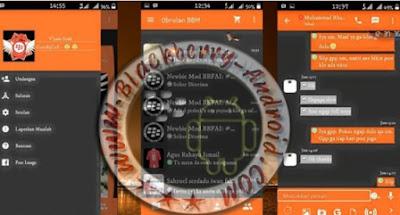 BBM Mod Tema Dark Orange New Versi 2.9.0.51 Apk