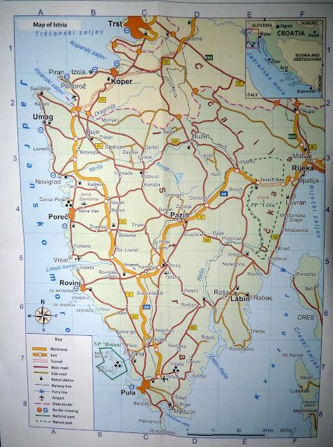 Подробная карта Истрийской жупании, Хорватия, 2011 | Detailed map of Istra region, Croatia, 2011