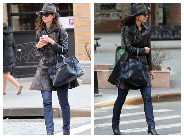 Katie Holmes Highlights Manhattan Street with Her Cat Eye Glasses
