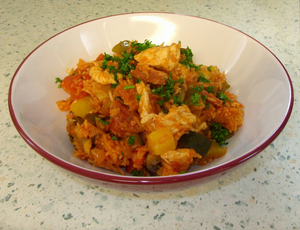 Jenny Eatwell's Rhubarb & Ginger: Chicken and chorizo ...