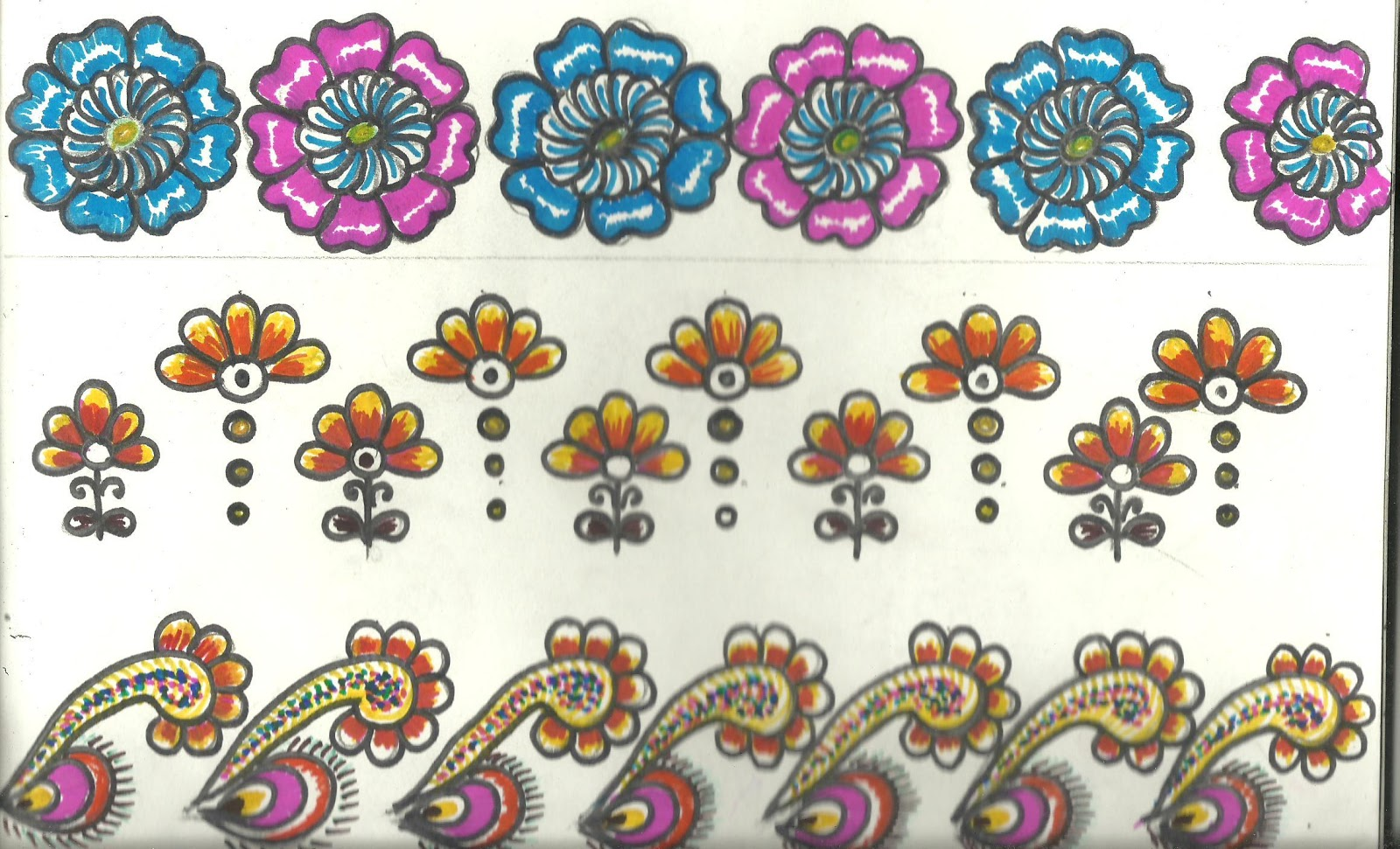 Bed sheet design for paintings - Border Designs For Saree Table Cloth And Bed Sheet
