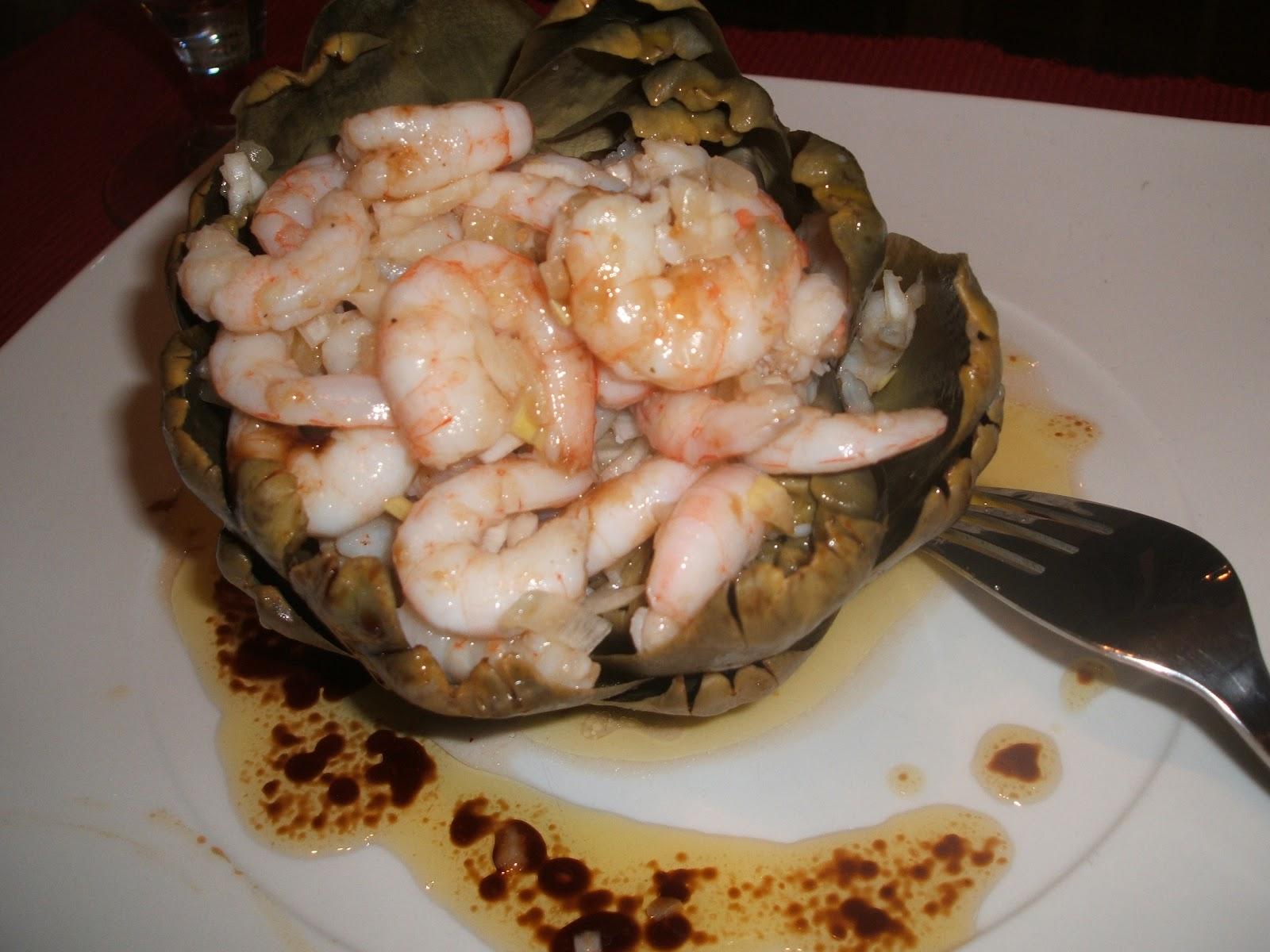 Recetas de cocina alcachofas al vapor con gambas for Cocinar alcachofas al vapor