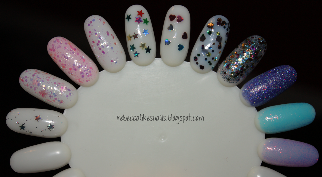 rebecca likes nails: Kleancolor Glitter Swatch Spam!