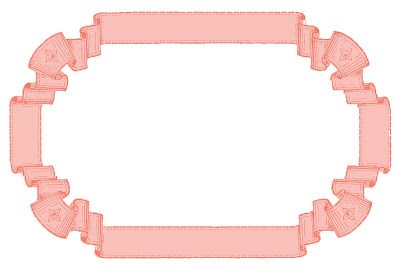 Stock Images French Ribbon Graphic Frames Pink