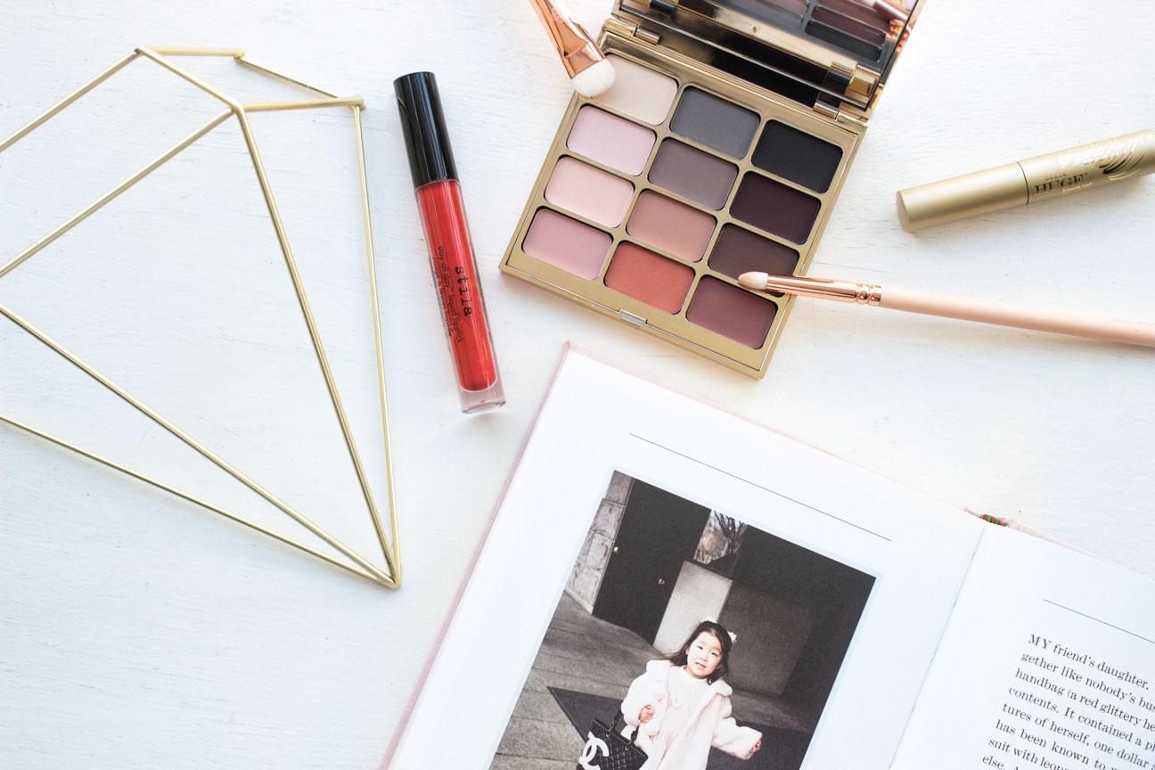 Stila Giveaway Mind palette, Tesoro lipstick and huge lash mascara
