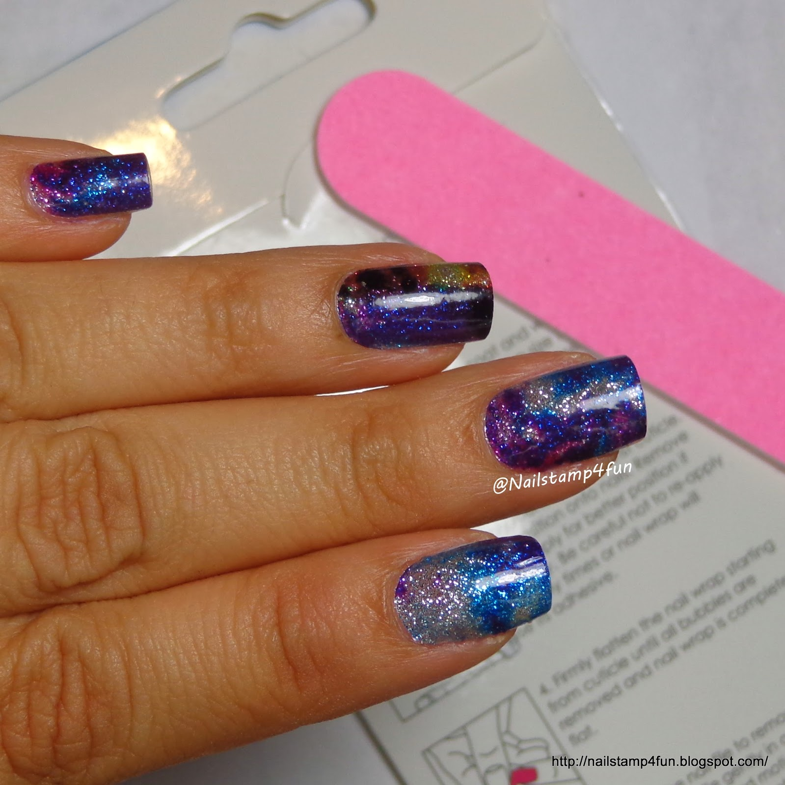 Nail Stamp 4 Fun: Winstonia Designer Nail Wraps: Galaxy Far Far Away