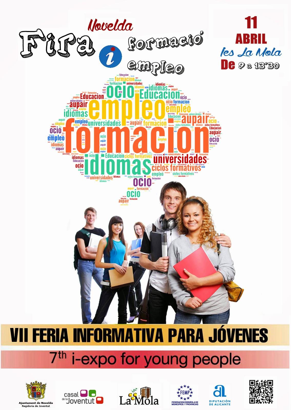 Ayuntamiento de Novelda CARTEL+DEFINITIVO VII Feria de formación y empleo